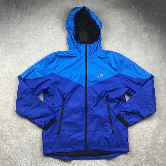Nike Packable Windrunner Full Zip Jacket Blue NWT